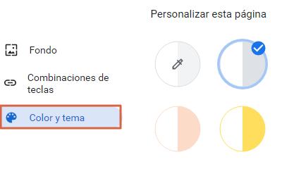 Cambiar el fondo de Google cambiando los colores paso 2
