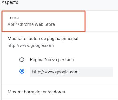 Cambiar el fondo de Google con un tema de Google paso 4