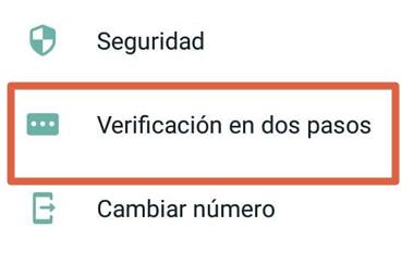 Cómo activar WhatsApp Messenger sin código de verificación usando verificación en dos pasos paso 2