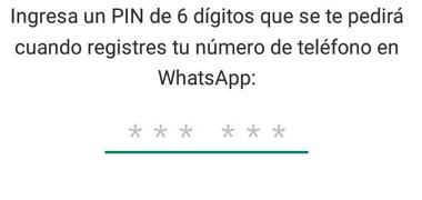 Cómo activar WhatsApp Messenger sin código de verificación usando verificación en dos pasos paso 4