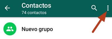 Cómo actualizar libreta de contactos de WhatsApp en Android o iOS desde el menú de la app paso 3