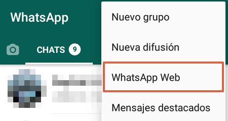 Cómo clonar WhatsApp para utilizarlo en más de un móvil con WhatsApp Web paso 5
