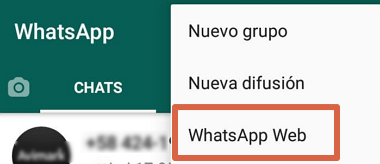 Cómo conectarse a WhatsApp Web paso 2