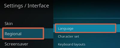 Cómo configurar el idioma en kodi paso 3