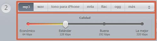 Como convertir audio a MP3 con Convertir audio online paso 2