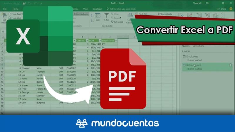 Cómo convertir un archivo de Excel a PDF las mejores herramientas gratis