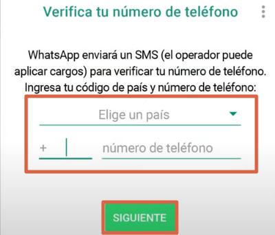 Cómo crear una cuenta de WhatsApp Messenger paso 2