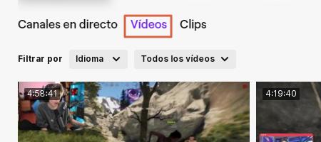 Cómo descargar videos de Twitch Paso 1