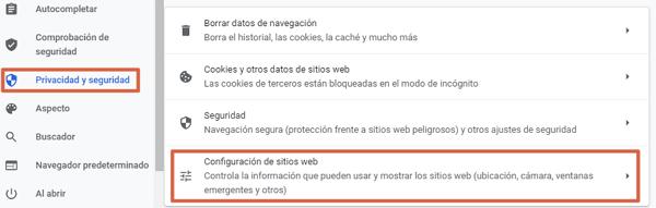 Cómo habilitar o activar JavaScript en el navegador Google Chrome paso 2