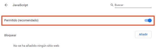Cómo habilitar o activar JavaScript en el navegador Google Chrome paso 3