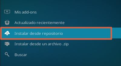 Cómo instalar addons en Kodi desde el repositorio paso 3