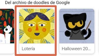 Cómo jugar lotería en Google Doodle en tu navegador desde el celular paso 3