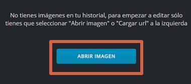Cómo mejorar fotografías borrosas o desenfocadas en Pixlr paso 1