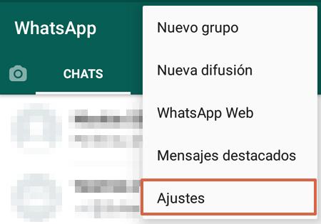 Cómo realizar una copia de seguridad en WhatsApp paso 2