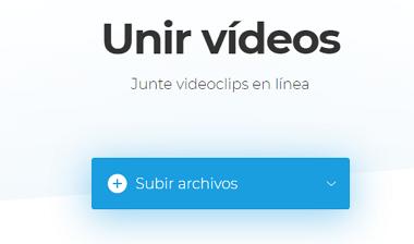 Cómo unir videos online gratis usando Clideo paso 1