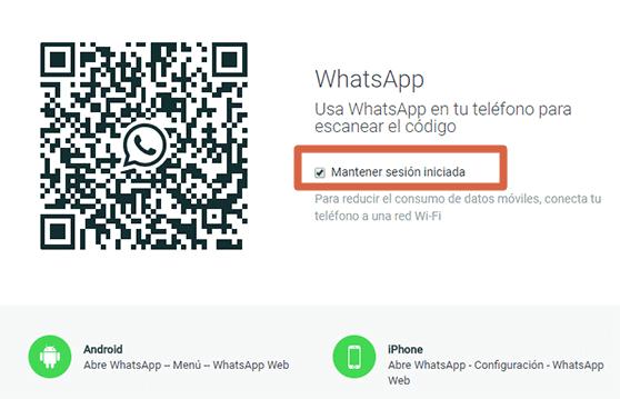 Cómo utilizar WhatsApp Web sin escanear código QR manteniendo la sesión iniciada
