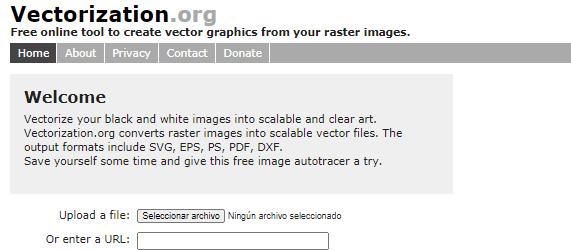 Cómo vectorizar imágenes online con Vectorization.org