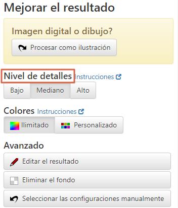 Cómo vectorizar imágenes online utilizando Vector Magic Paso 4