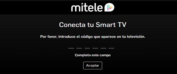 Cómo ver y activar Mitele.es a la carta en el Smart TV para ver la programación completa Paso 6