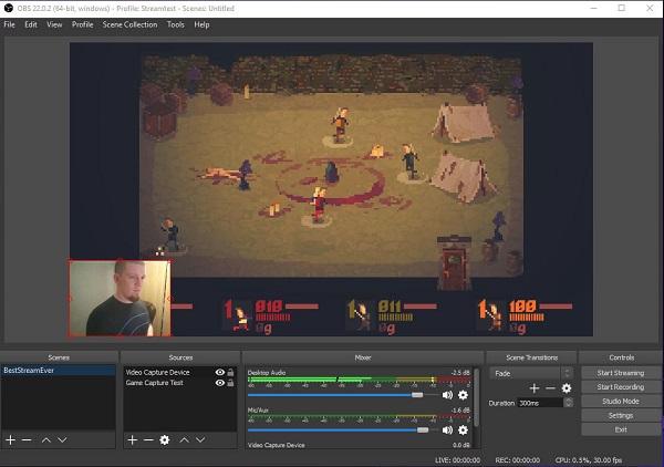 Usar OBS Studio para grabar la pantalla del ordenador