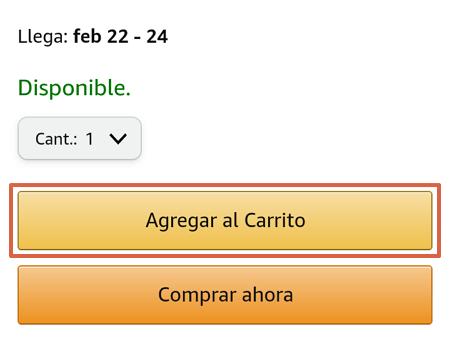 Cómo comprar en Amazon desde la app paso 6