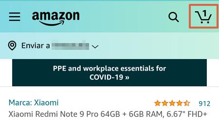 Cómo comprar en Amazon desde la app paso 7
