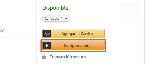 Cómo comprar en Amazon desde la página web paso 6