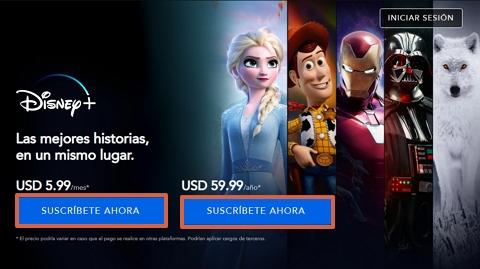 Cómo conseguir o ver el contenido de Disney Plus gratis paso 2
