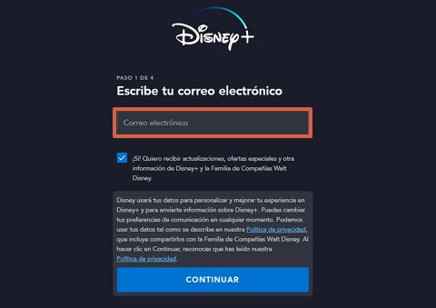 Cómo conseguir o ver el contenido de Disney Plus gratis paso 3