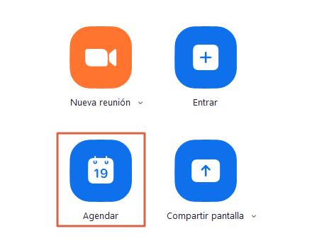 Cómo crear o programar reuniones en Zoom Desde la app Paso 2