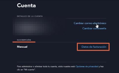 Cómo dar de baja o cancelar la suscripción a Disney Plus desde su página web paso 4