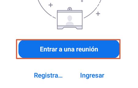 Cómo entrar o ingresar a una reunión en Zoom desde la aplicación paso 2