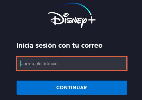 Cómo ingresar o iniciar sesión en Disney Plus desde la página web paso 3