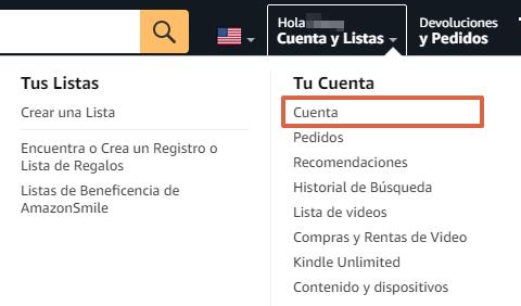 Cómo saber cuándo llegará el pedido de Amazon desde la página web paso 2