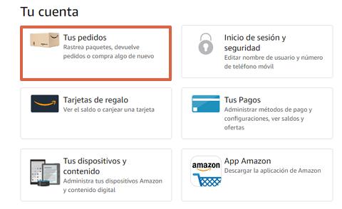 Cómo saber cuándo llegará el pedido de Amazon desde la página web paso 3