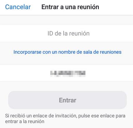 Cómo usar Zoom en el celular paso 2.1