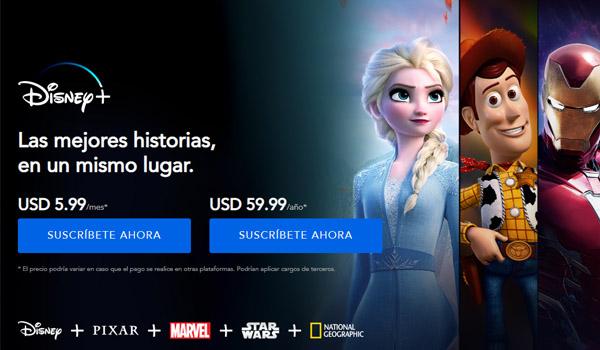 Inicio Disney Plus