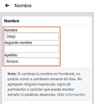 En cambiar facebook nombre Cómo cambiar