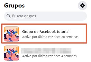 Cómo abandonar un grupo de Facebook desde la PC paso 1