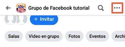 Cómo abandonar un grupo de Facebook desde un dispositivo móvil paso 4