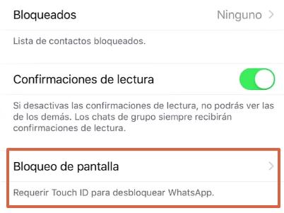 Cómo bloquear WhatsApp desde un iPhone a través de la aplicación paso 4
