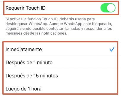 Cómo bloquear WhatsApp desde un iPhone a través de la aplicación paso 5