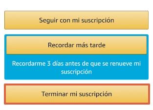 Cómo cancelar la suscripción de Amazon Prime y darte de baja desde la app paso 10