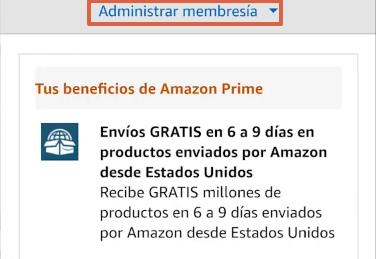 Cómo cancelar la suscripción de Amazon Prime y darte de baja desde la app paso 6