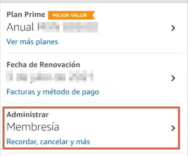 Cómo cancelar la suscripción de Amazon Prime y darte de baja desde la app paso 7