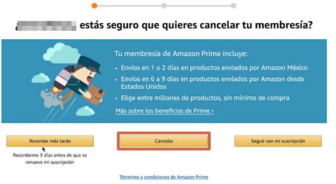 Cómo cancelar tu suscripción a Amazon Prime paso 6