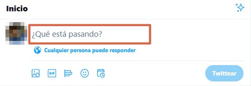 Cómo crear o hacer un hilo en Twitter desde la PC paso 1