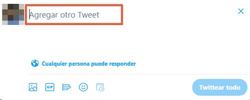 Cómo crear o hacer un hilo en Twitter desde la PC paso 3