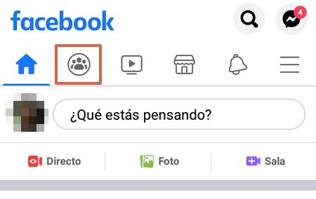 Cómo crear un grupo en Facebook desde su aplicación móvil paso 2