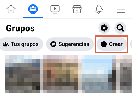 Cómo crear un grupo en Facebook desde su aplicación móvil paso 3